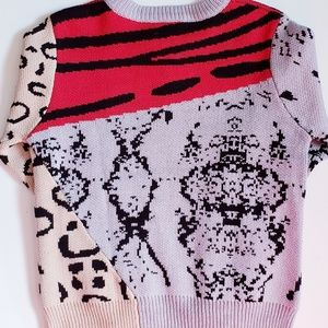 Alice Blue Sweaters - Long Sleeve Animal Print